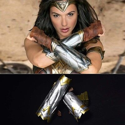 2017 Wonder Woman Princess Costume Diana Cosplay Bracers Gauntlet Headband US