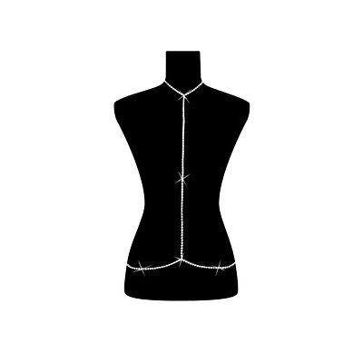 PunkJewelry Fashion Bauchkette SUPERHOT mit Halskette verbunden