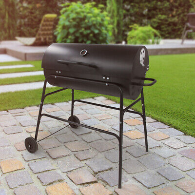 BARREL CHARCOAL BBQ PAGODA OIL DRUM COVERED GRILL GARDEN BARBECUE Wido