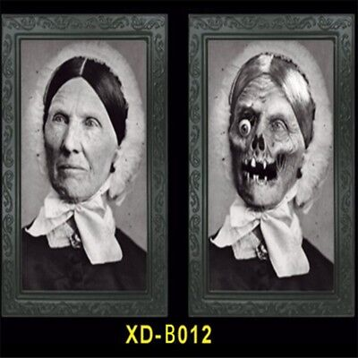 Gothic Halloween Horror Party Lenticular Morphing Photo Picture Frame Listing HM