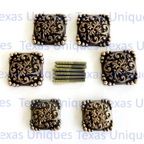 Yuma Square Concho Antique Copper Saddle Set CON425-B-ACPR-SD-SET