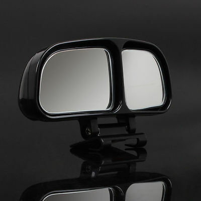 2 x Ajustable Car Towing Wide Angle Mirrors Blind Spot Mirror Wing Vehicle Black