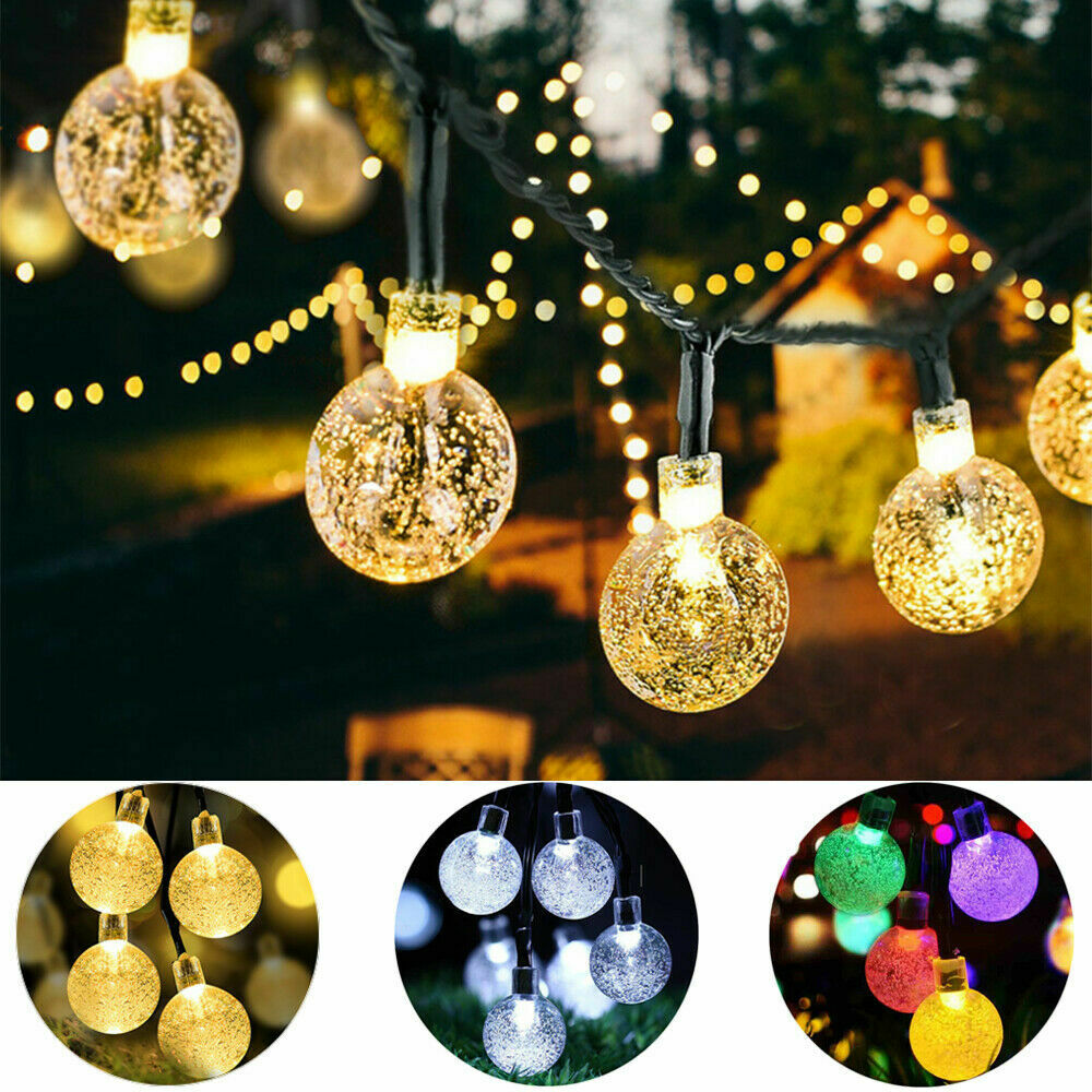 LED Solar String Lights Outdoor Garden Yard Decor Lamp Waterproof Fairy Light Home & Garden