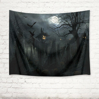 Halloween Scarecrow Moon Tapestry Wall Hanging Living Room Bedroom Dorm Decor](Halloween Dorm Decorations)