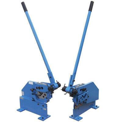 Bar Section Shear Manual Ironworker Cutter Hand Puncher Sheet Metal Flat Steel
