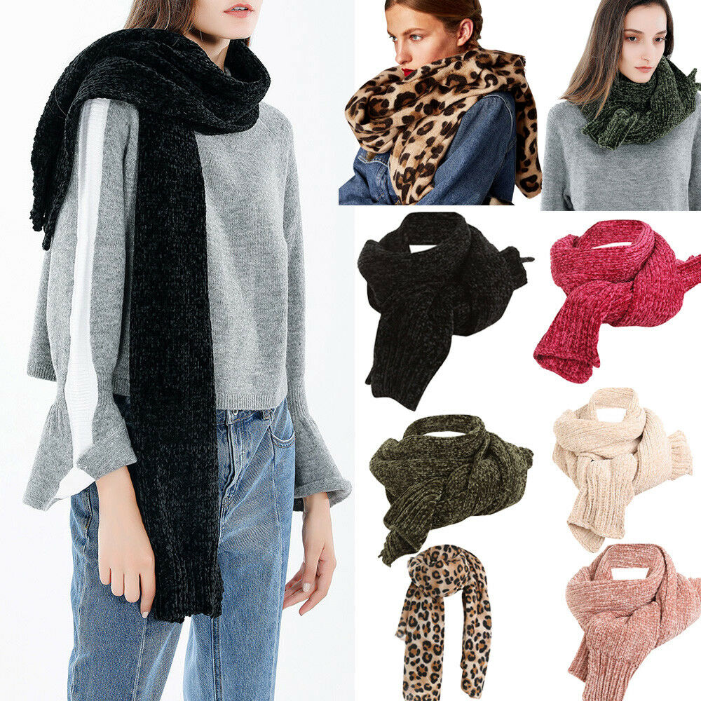 Women Blanket Oversized Knitted Scarf Wrap Shawl Plaid Cozy Checked Pashmina