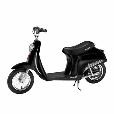 Razor Pocket Mod Miniature Euro 24 Volt 250 Watt Electric Retro Scooter, Black