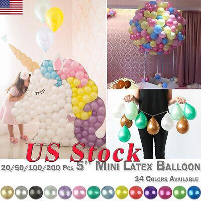 20/50/100/200 Pcs 5'' Mini Latex Balloon Round Birthday Party Balloons Festival - Mini Latex Balloons