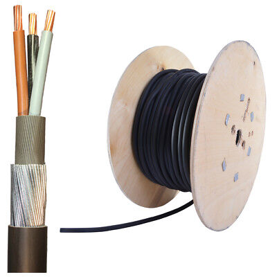 ALL LENGTHS SWA Steel Wire Armoured 3 Core 1.5mm 2.5mm 4mm Outdoor Cable 6943Y