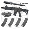 Tippmann TMC Paintball Marker - Long Range Magazine Fed Paintball Gun - 4 Mags