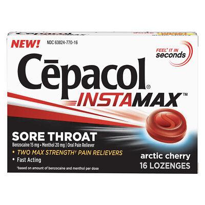 Cepacol Instamax Sore Throat Lozenges, Arctic Cherry 16 ea Throat Lozenges Cherry