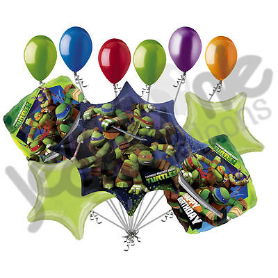11 pc Teenage Mutant Ninja Turtle Balloon Bouquet Party Decoration Super Hero