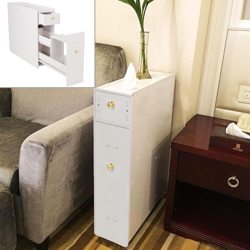 Wood Slimline Bathroom Slide Out Storage Drawer Cabinet Cupboard