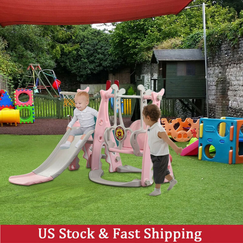 Toddler Climber And Swing Set, 3 in 1 Climber Sliding Playse