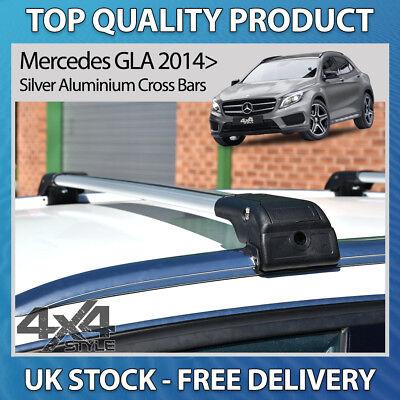 Farad Silver Wing Roof Bars Peugeot 508 SW 10-18 Closed Rails Aluminium Lockable
