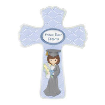 Precious Moments Girl Graduation Cross Religious gift Congratulations Brand New](Religious Graduation Gifts)