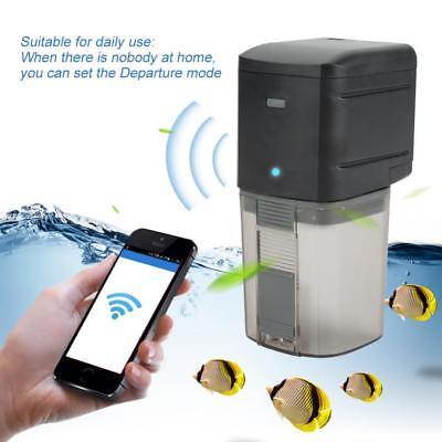 WiFi Automatic Fish Tank Food Feeder Pond Aquarium Feeding Timer Baits Dispenser for sale  Shipping to United States