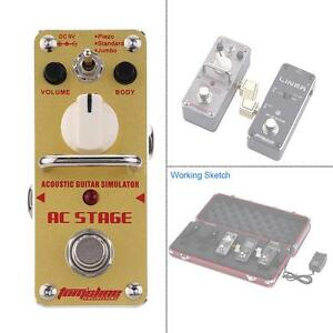 AROMA AAS-3 AC Stage Acoustic Guitar Simulator Single Electric Effect Pedal HI2W