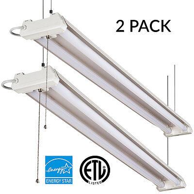 Sunco 2 PACK LED SHOP LIGHT 5000K Daylight 4FT 40W Fixture Utility Ceiling Light