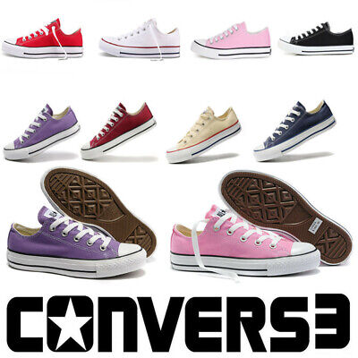 Classic Converse Chuck Taylor Mens Womens Unisex Hi/Lo Tops Trainers Pumps Shoes