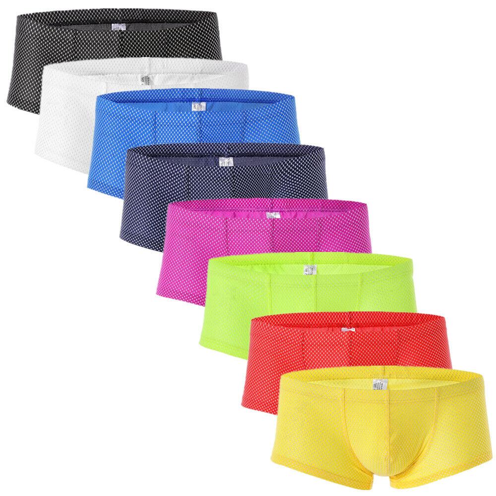 New Men Breathable Underwear Boxer Briefs Shorts Bulge Pouch Underpants 6A