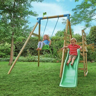 TP Robin Wooden Swing and Slide Multiplay