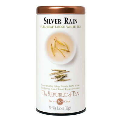 Silver Rain White Tea (The Republic Of Tea Silver Rain White Full-Leaf Tea, 1.75 Ounces / 50-60)