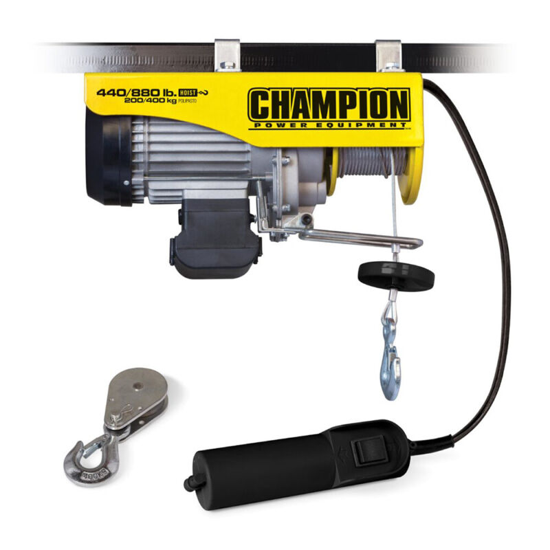 Campion 18890 Automatic Electric Hoist w/Remote Control 440/880-Pounds, Yellow
