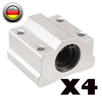 4PCS SCS8UU 8mm Linearlager Ball Bearing Linearschlitten CNC für 3D Drucker DE