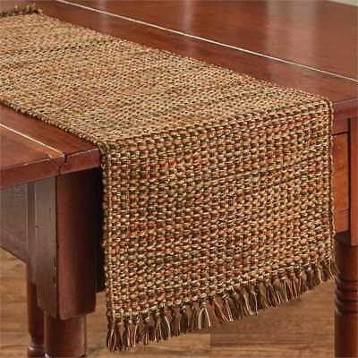 Harvest Tweed Table Runner Fall Autumn Country Farmhouse Kitchen Dining 13Wx36L
