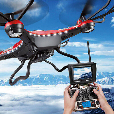 JJRC H8D 6-Axis Gyro 5.8G FPV RC Quadcopter Drone HD Camera Monitor 2*Battery US