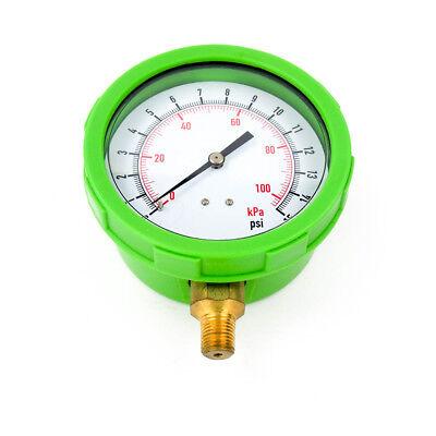 4 Green Test Pressure Gauge 0 To 15 Psi 14 Mntp Bottom Connection 4efg9