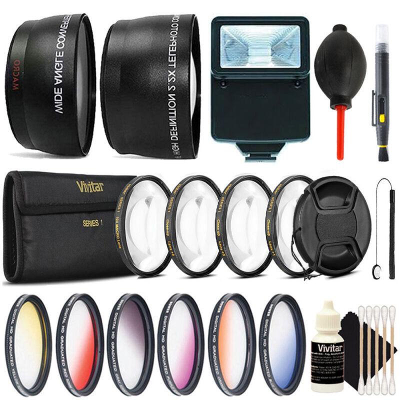 52mm Macro Kit + Top Lens Accessory Kit for Nikon DSLR Cameras