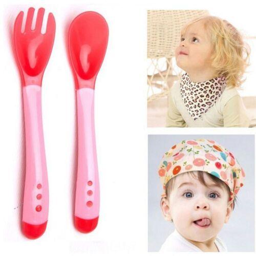 Spoon And Fork Heat Sensing Spoon Silicone Tableware Thermal Sensing Fork
