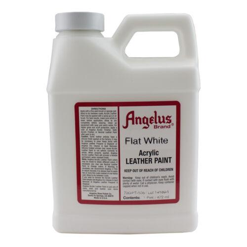 Angelus |  Acrylic & Vinyl Leather Paint | Flat White | 16 oz.