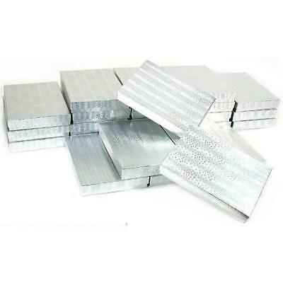 25 Silver Cotton Boxes Necklace Gift Box Displays