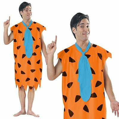 Flintstone TV Cartoon The Flintstones Caveman Halloween Mens Fancy Dress Costume (Caveman Halloween)