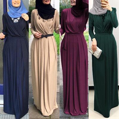 Ramadan Abaya Women Maxi Dress Muslim Party Robe Dubai Gown Islam Kaftan Jilbab