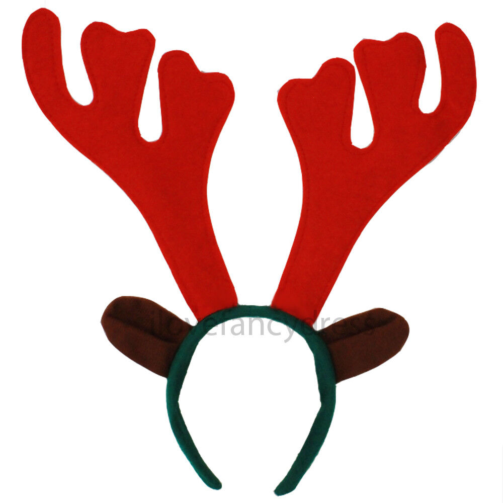 Santa REINDEER ANTLER HAIR CLIPS for Christmas Holiday Xmas Costumes BRAND NEW