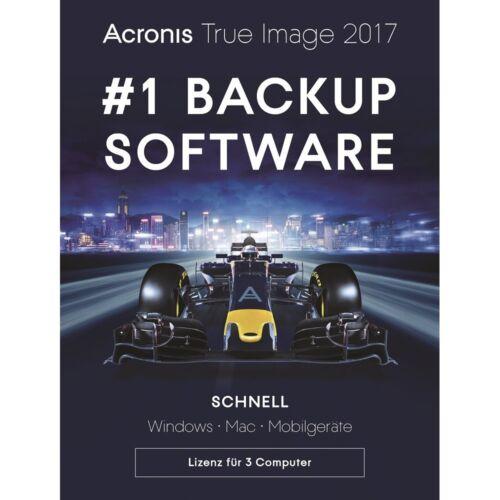 Acronis True Image 2017 / 2018* 3-PC Backup+Recovery Dauerlizenz / Deutsch / KEY