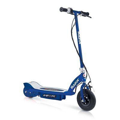 Razor E125 Kids Ride On 24V Motorized Battery Powered Electric Scooter Toy, Blue