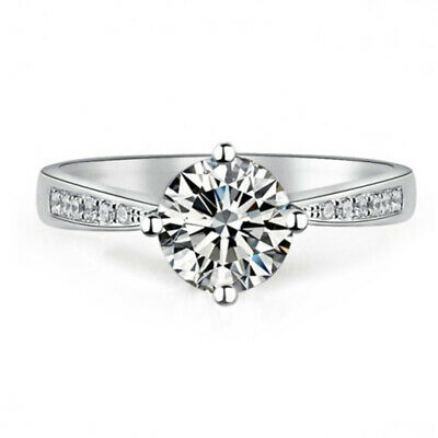 Best seller 1 CT GIA Certified Round Cut Diamond Engagement Ring 14k White Gold (Best Round Engagement Rings)