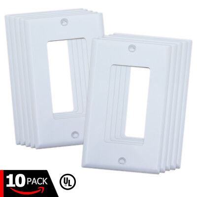 Decora White Wall Plates with Screws for Light Switch & Electrical Outlet Cover ()