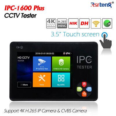3.5 Inch Touch Screen Hd Cctv Ip Cvbs Camera Tester H.265 4k Wifi Ipc-1600plus