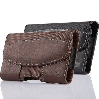 Leather Holster Belt Clip Carrying Case Horizontal Pouch For Apple Iphone (Apple Iphone Leather Pouch)