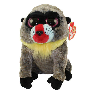 "Ty 6"" WASABI Baboon Beanie Boos Plush Stuffed Animal w/ MWMT's Heart Tags 2018"