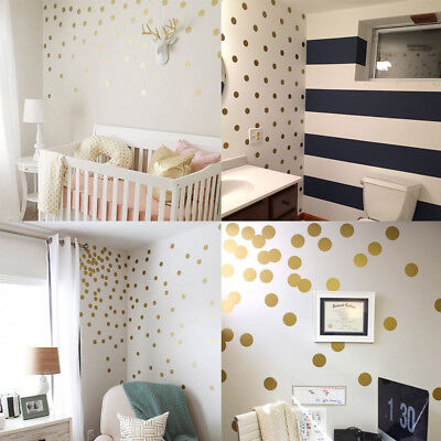 Nordic Polka Dots Circle Wall Sticker Kids Nursery Vinyl Decal Home Decoration Dots Nursery Wall
