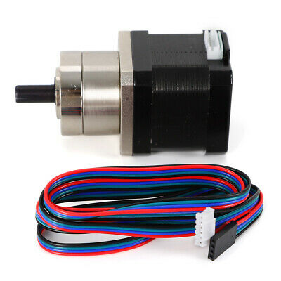 42mm Planetary Gear Motor Nema 17 Stepper Motor 8mm Shaft Ratio 15.18 Precision