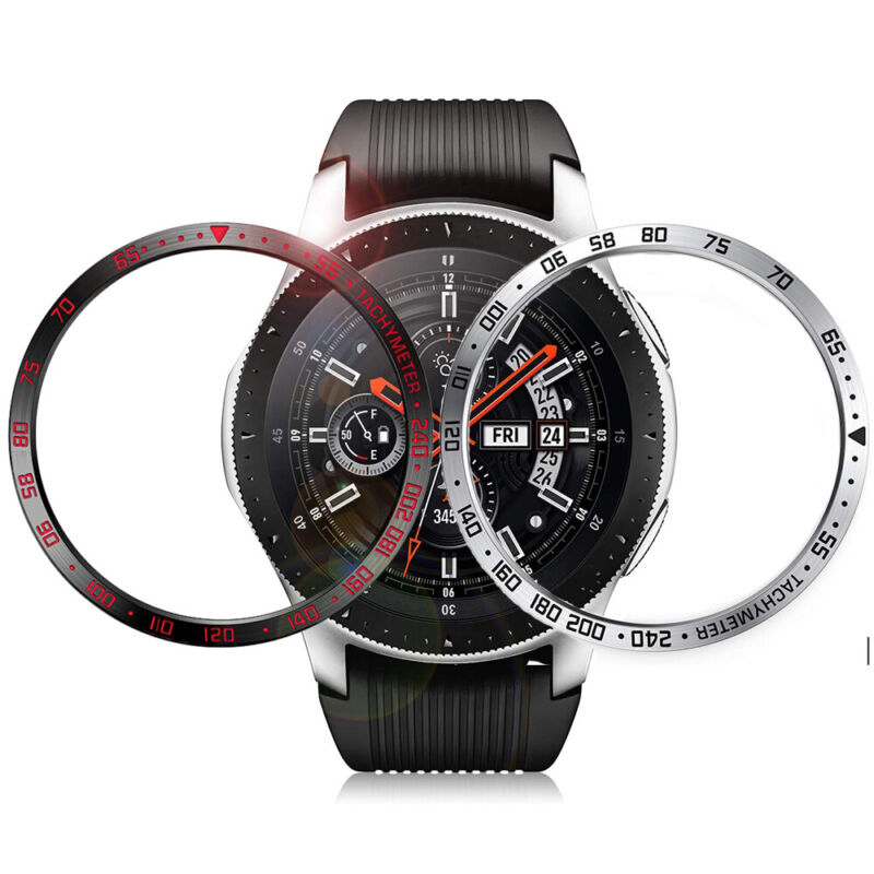 For Samsung Galaxy Watch 46mm Bezel Ring Styling Frame Case Cover Protection