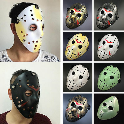 Halloween Film Jason (Cosplay Halloween Party Jason Voorhees Friday The 13th Horror Movie Hockey)